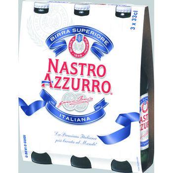 Nastro Azzurro Birra classica 33 cl x 3