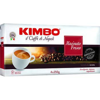 Kimbo caffè macinato fresco 250 gr x 4