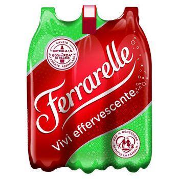 FERRARELLE Acqua Minerale Effervescente Naturale 1,5 lt x 6 bottiglie