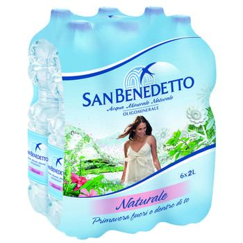 SAN BENEDETTO acqua minerale Naturale 2 lt x 6 bottiglie